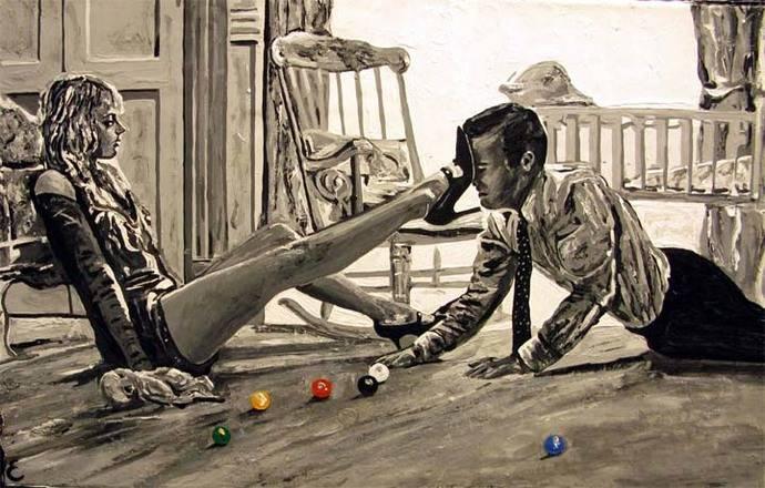 """Estartús expone su reciente pintura """"PEOPLE II"""" en la galería David Bardía de Madrid"""