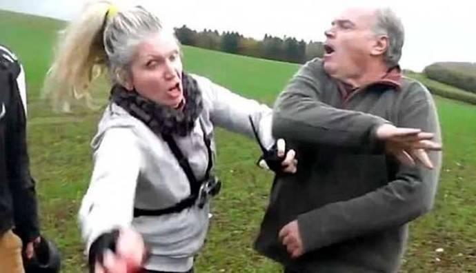 Un cazador agredió brutalmente a una activista defensora de los animales