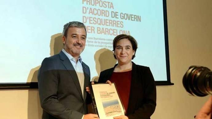 Collboni y Colau presentan su acuerdo de gobierno, en mayo del 2106 SANDRA LÁZARO