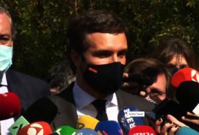 El presidente del PP, Pablo Casado.
