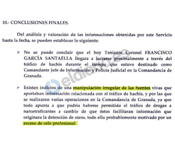 Extracto del informe del Servicio de Información de Guardia Civil de 1990
