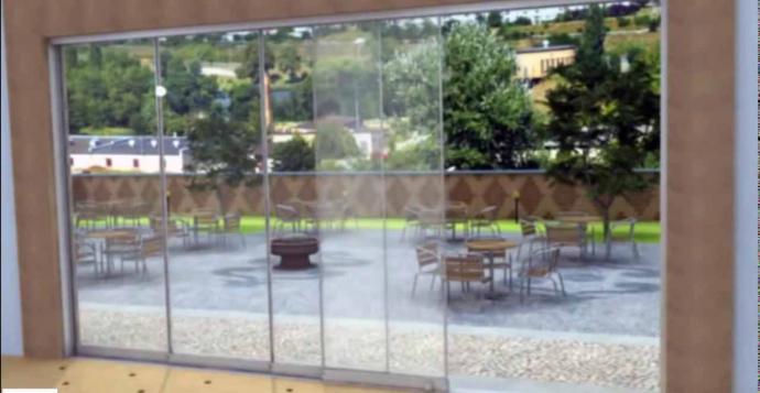Las cortinas de cristal son una elegante alternativa