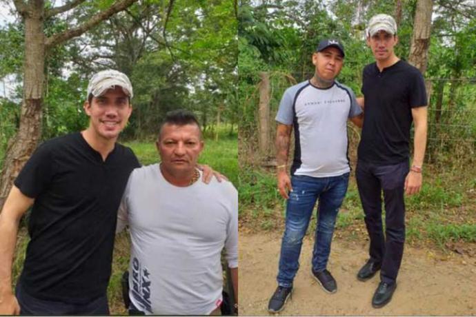 ¿Qué hay detrás de la foto de Guaidó con dos supuestos 'narcoparamilitares' colombianos?