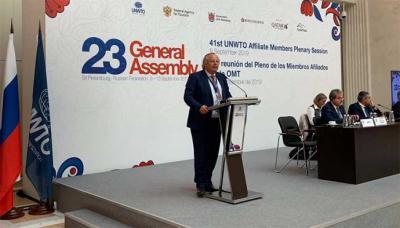 Miguel Mirones inauguró en San Petersburgo, el Pleno de Miembros Afiliados de la Organización Mundial del Turismo