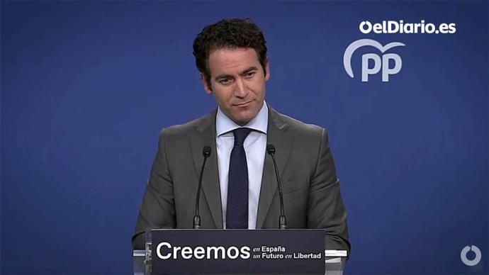 El secretario general del PP, Teodoro García Egea (captura de pantalla)