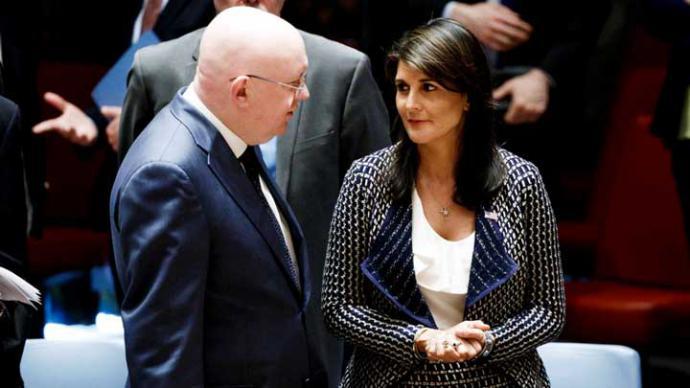 La embajadora estadounidense ante la ONU, Nikki Haley