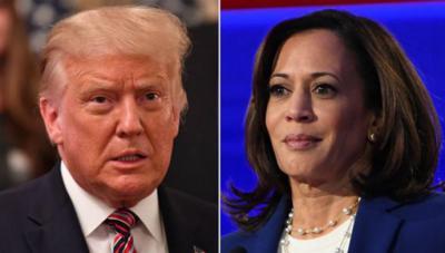 """El presidente de Estados Unidos se pronunció sobre Kamala Harris llamándola """"loca· y diciendo que llevará al país a la depresión"""