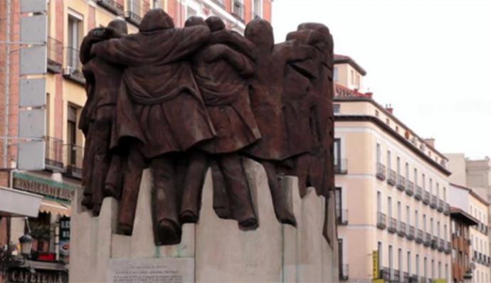 Monumento recordatorio a los asesinados en Atocha, en 1977