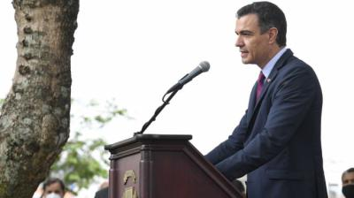 El presidente del Gobierno, Pedro Sánchez, durante su visita a Costa RicaPOOL MONCLOA/BORJA PUIG DE LA BELLACASA