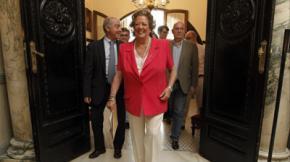 La exalcaldesa Rita Barberá en el Ayuntamiento de Valencia.