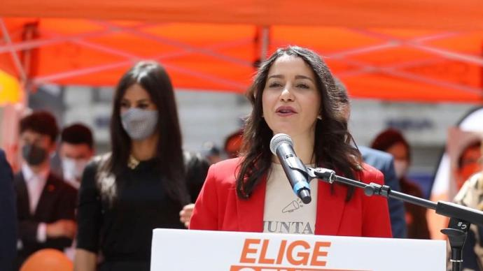 Inés Arrimadas, durante un acto de campaña.