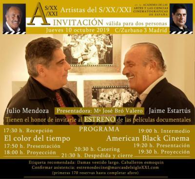 Estartús y Julio Mendoza: dos películas presentadas en la Academia del Cine