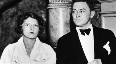 Scott Fitzgerald con su esposa Zelda