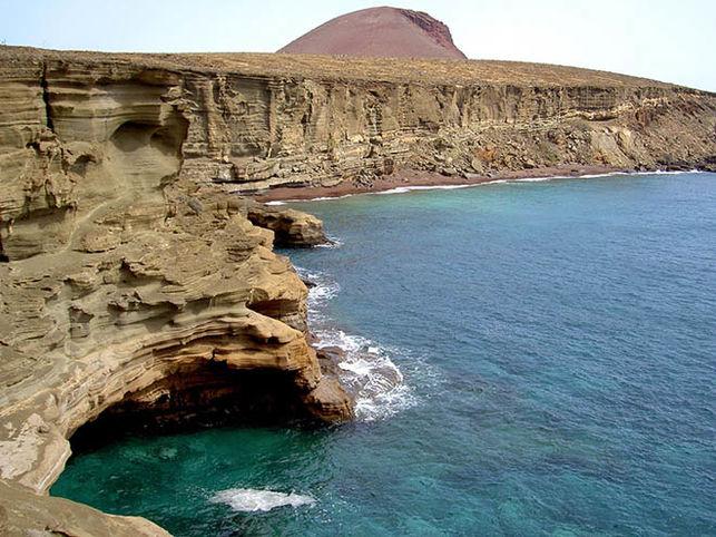 Fondeadero en la Isla de Alegranza.