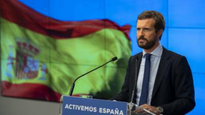 El presidente del PP, Pablo Casado.PP