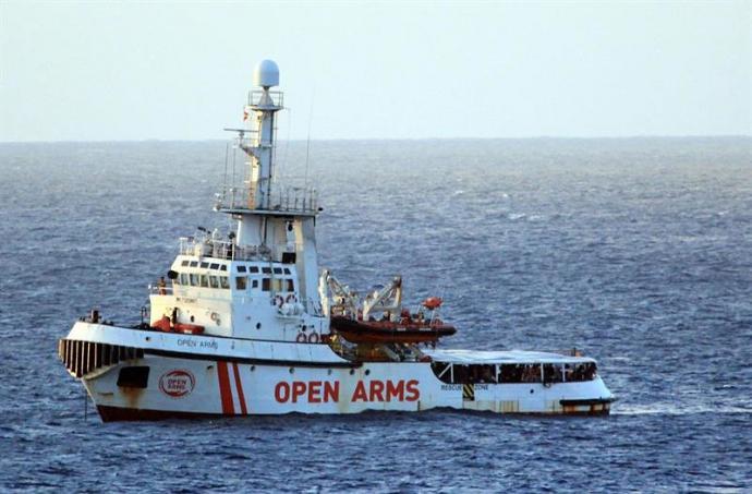 España acogerá a parte de los 147 migrantes a bordo del Open Arms