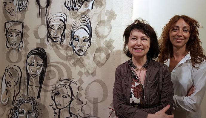 Concha Hornero y Beatriz Rodríguez, exposición conjunta de pintura en el estudio de Madrid