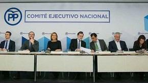 Mariano Rajoy preside la reunión del Comité Ejecutivo Nacional del Partido Popular tras las elecciones catalanas del 21D. PARTIDO POPULAR