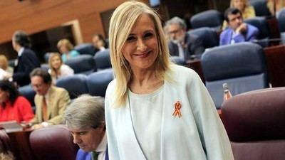 Cristina Cifuentes, durante el debate sobre el estado de la región de 2017