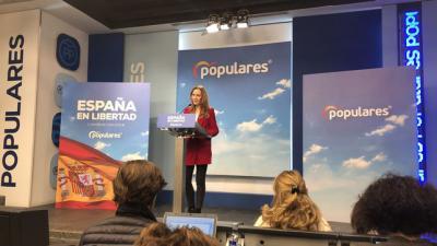 Marta González, este lunes, en rueda de prensa.