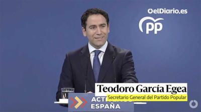 El secretario general del PP , García Egea
