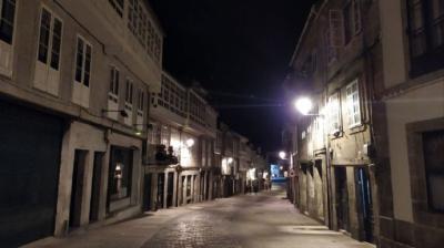 Imagen de la Rúa de San Pedro de Santiago de Compostela, en medio del estado de alarmaArchivo