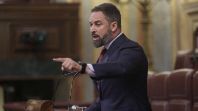 El líder de Vox, Santiago Abascal, interviene en una sesión de control al Gobierno en el CongresoEUROPA PRESS/E. Parra. POOL - Europa Press