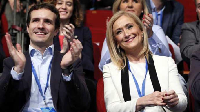 Pablo Casado y Cristina Cifuentes en una imagen de archivo.