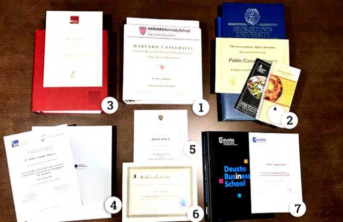 """Pablo Casado aprobó todos sus """"posgrados"""" en Harvard, Georgetown y otras universidades con apenas 40 días de clases y sin exámenes"""