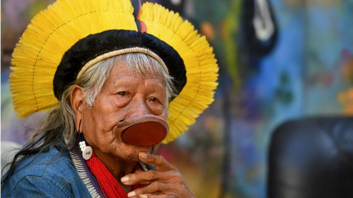 Proponen a cacique brasileño Raoni para premio Nobel de la Paz