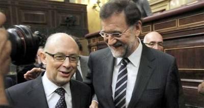 Montoro (i) y Rajoy