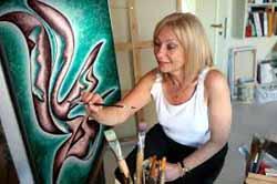 Adriana Zapisek, pintora italo-polaca-argentina, a caballo entre Buenos Aires y Madrid