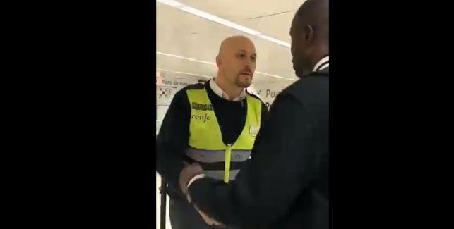 Captura del vídeo difundido por Sos Racismo.