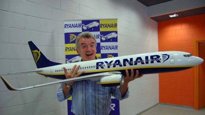 O'Leary, el extravagante presidente de Ryanair, cabalga de nuevo...