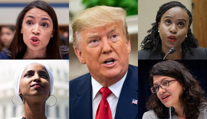 """""""El escuadrón"""" de congresistas que desata la ira de Donald Trump."""