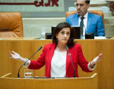 La candidata socialista a la Presidencia del Gobierno de La Rioja, Concha Andreu