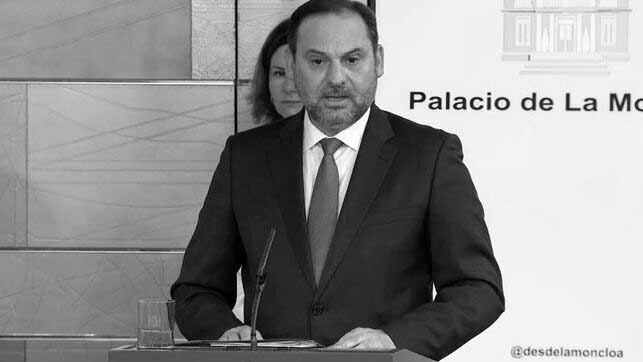 Captura de pantalla del ministro de Transportes, José Luis Ábalos