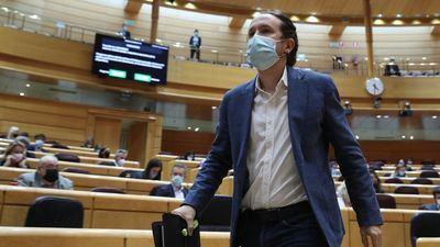 Pablo Iglesias en una sesión de control al Gobierno en el Senado