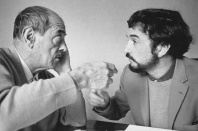 Jean Claude Carrière (IZQ) y, Luis Buñuel
