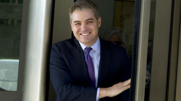 El periodista de la  CNN Jim Acosta