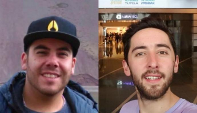 Los chilenos Felipe Osiadacz y Fernando Candia