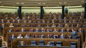 El Grupo Parlamentario Popular en el Congreso durante una intervención de Pablo Casado. FLICKR PP