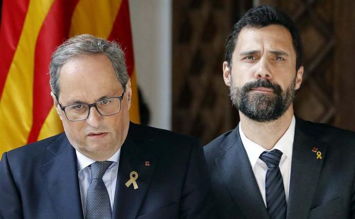 El Tribunal Constitucional advierte a Torra y al Govern de riesgo penal de desobediencia