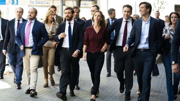 Plana mayor del PP con Casado, Álvarez de Toledo y García Egea, entre otros.FLICKR PP