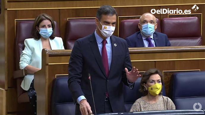 Presidente Sánchez en el Congreso (captura de pantalla)