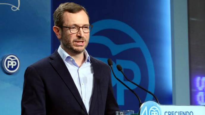Javier maroto, vicesecretario del PP en la sede del partido