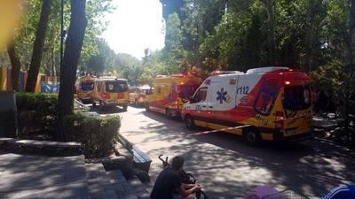 Accidente en el Parque de Atracciones de Madrid: 23 heridos leves en el Tren de la Mina