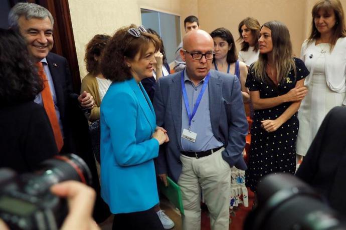 Gonzalo Boye (c), abogado del expresidente catalán Carles Puigdemont