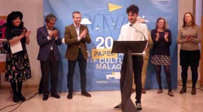 El escritor Ángelo Néstore, galardonado con el XX Premio Internacional de Poesía Emilio Prados por el poemario 'Hágase mi voluntad'