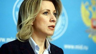 La portavoz del Ministerio ruso, María Zajárova